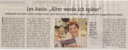 Lys Assia in Berliner Morgenpost vom 01.10.2005